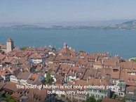 Town,  countryside,  Lake Murten